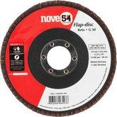 Disco de desbaste/acabamento flap-disc cônico 4.1/2 Pol. grão 50 costado de fibra NOVE54