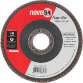Disco de desbaste/acabamento flap-disc reto 4.1/2 Pol. grão 50 costado de fibra NOVE54