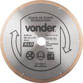 Disco de corte diamantado, 250 mm, contínuo, para porcelanato, VONDER