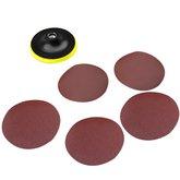 Disco de Lixa para Esmerilhadeira com 6 Peças - 115 mm - UYUSTOOLS-DPA115