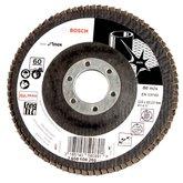 Disco Flap de 4-1/2 Pol. com Grão 60 para Inox - BOSCH-2608608268
