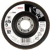 Disco Flap de 4-1/2 Pol. com Grão 80 para Inox - BOSCH-2608608269
