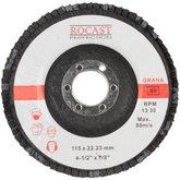 Disco Flap de 115 x 22 mm com Grão 80 para Metal - ROCAST-102.0003
