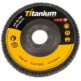 Disco Flap de 4-1/2 Pol. com Grão 40 - TITANIUM-4820