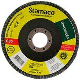Disco Flap de 115mm com Grão 80 para Construção - STAMACO-7012