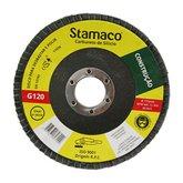 Disco Flap de 115mm com Grão 120 para Construção - STAMACO-7029