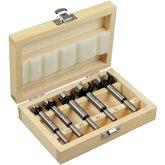 Jogo de Broca para Madeira em Aço Carbono com 05 Peças e Caixa de Madeira - UYUSTOOLS-BCM05H