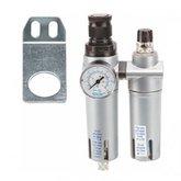 Filtro Regulador Lubrificador Mini 175 PSI 700 l/min 1/4 Pol. BSP  - STEULA-FRL-1200