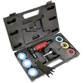 Kit Mini Retífica Angular Pneumática 1/4 Pol. com Acessórios - CHICAGO-CP875K