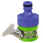 Conector Fêmea de Plástico com Bucha 3/4Pol. Rosca Interna e Abraçadeira