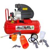 Kit Motocompressor de Ar MOTOMIL-37896.2 8,7 Pés 50L 220V + Kit de Pintura FORTGPRO-FG8670