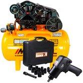 Kit Compressor Air Power MOTOMIL-CMV-15PL/150 15 Pés Bivolt Mono + Jogo Chave Parafusadeira de Impacto com Acessórios