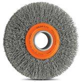 Escova Circular Arame Ondulado Aço 6 x 1 Pol.