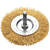 Escova Circular Arame Ondulado Latonado 2 x 1/4 Pol.