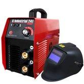Kit Máquina Inversora de Solda BAMBOZZI A INDUSTRIAL 241 200A Bivolt  + Máscara de Solda ESAB 738295