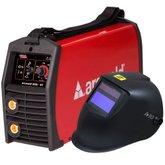 Kit Máquina Inversora de Solda LINCOLN K69005-4 TIG 200A Arcweld 200I-ST + Máscara de Solda Auto ESAB 738295
