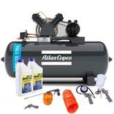Kit Compressor ATLASCOPCO-AT3/15-175L 15 Pés + 2 Óleos Lubrificante 1 Litro +  Kit de Pintura com 5 Peças