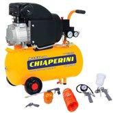 Kit Motocompressor CHIAPERINI-MC7.6/21L 7,6 Pés 110V Mono + Kit de Pintura com 5 Peças