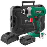Kit Parafusadeira com Impacto DWT-6014181800 1/4Pol. 18V + Carregador DWT-6014180500 + Bateria DWT-6014180200