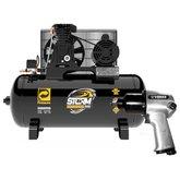 Kit Compressor de Ar PRESSURE-8975703011 10 Pés + Chave de Impacto Pneumática VERSA-NEU200 1/2 Pol.