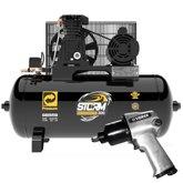 Kit Compressor de Ar PRESSURE 8975703011 10 Pés 100 Litros Bivolt + Chave de Impacto VERSA-NEU200 1/2 Pol. 569Nm