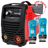 Kit Máquina de Solda Inversora FORTGPRO-FG4126 + 2 Cremes Protetores para Pele NUTRIEX-0063651 Luva Química