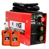 Kit Máquina Inversora de Solda FORTG-FG4010 com Acessórios + 2 Spray Repelente de Insetos NUTRIEX-63503 100ml