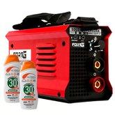 Kit Máquina de Solda Inversora FORTGPRO-FG4513 140A Compacta + 2 Protetores Solar NUTRIEX-60988 120 ml