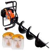 Kit Perfurador de Solo à Gasolina VULCAN-VPS-520 52 CC com Broca + 2 Protetores Facial UMP-10893 8 Pol.