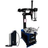 Kit Desmontadora FORTG-FG1430 com Braço Auxiliar Monofásica Azul + Levantador de Pneus Pneumático MAQUINAS RIBEIRO-ADP100D