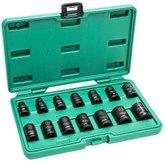 Jogo de Soquete de Impacto Parede Fina Thinwall de 10-24mm com 14 Peças
