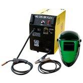 Kit Máquina de Solda Mig 195A V8 BRASIL-107608 + Máscara de Solda Automática com Regulagem LIBUS-SW-510