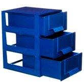 Gaveteiro com 3 Gavetas e 15 Divisórias Azul