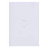 Interruptor Touch Glass em Acrílico Branco com 1 Botão