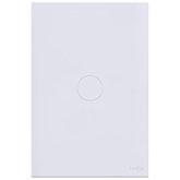 Interruptor Touch Glass Pulsador de Campainha em Acrílico Branco
