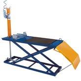 Rampa Para Motos Pneumático com Capacidade 300kg Azul/Amarelo