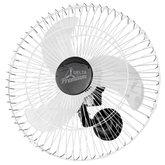 Ventilador Oscilante de Parede 60 m Premium Cromado/Preto Bivolt