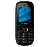 Celular UP 3G Dual Chip com Bluetooth e MP3 Preto - MULTILASER-P9017