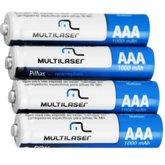 Pilhas Recarregáveis AAA 1000mAh com 4 Peças - MULTILASER-CB050