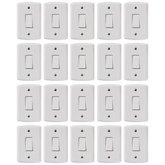 Kit Conjunto TRAMONTINA-57145001 de 1 Interruptor Simples 10A Branco com 20 Unidades