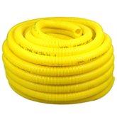 Eletroduto Corrugado Conduíte PVC de 3/4 Pol. Antichama Amarelo - 50 Metros - PLASTIC MANGUEIRAS-PI00A5