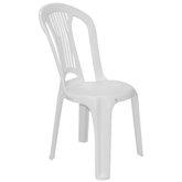 Cadeira sem Braços Atlântida Basic Economy Branca