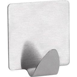 Gancho adesivo quadrado em inox com 2 peças VONDER