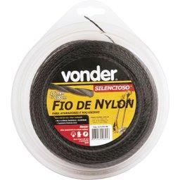 Fio de nylon 1,6 mm x 100 m silencioso VONDER