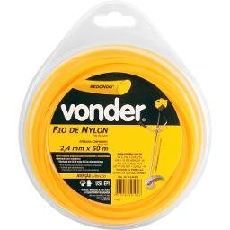 Fio de nylon 2,4 mm x 50 m redondo VONDER