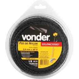Fio de nylon 3,0 mm x 50 m silencioso VONDER