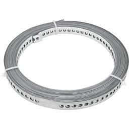 Fita de aço perfurada 17 mm x 0,40 mm x 30 m VONDER
