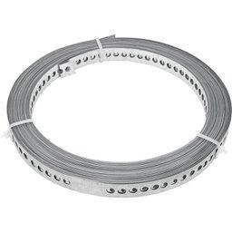 Fita de aço perfurada 19 mm x 0,40 mm x 10 m VONDER
