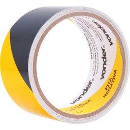 Fita adesiva refletiva 50 mm x 3 m amarela e preta VONDER