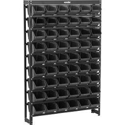 Estante metálica com gavetas modelo prático 54/5 cor preta VONDER